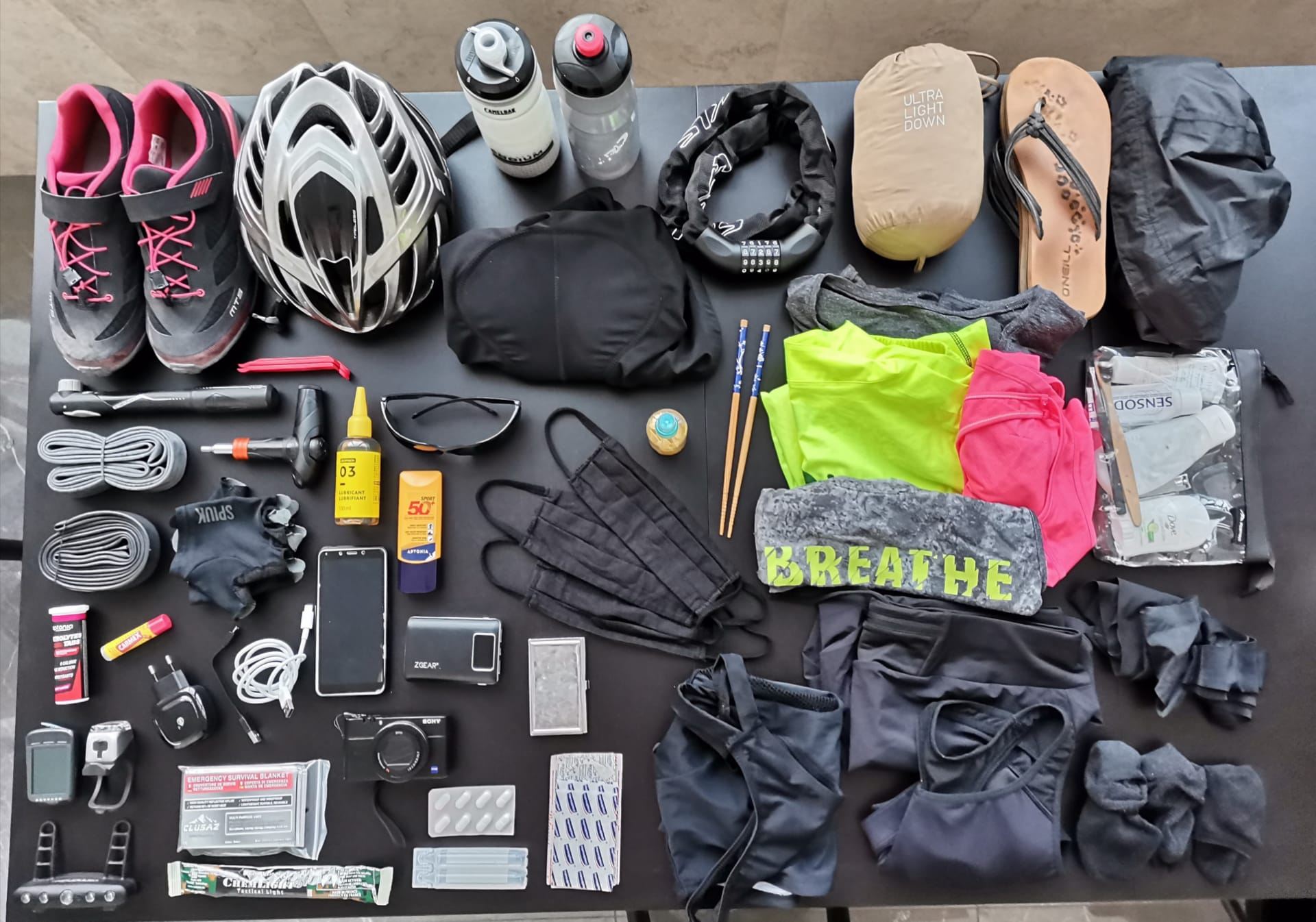 All of the gear I will be using (and wearing!) for one month of cycling